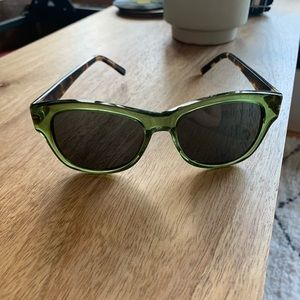 Anthropologie green and tortoise sunglasses